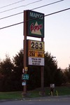 2.83 was the highest priced gas we spotted here in Nashville. It was enough to send us into 'shock & awe'... as this was also the first time we'd seen 3.00 on ANY gas station sign!
