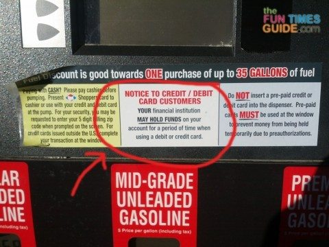 Don't pay for gas with your bank card. It can cause you to incur overdraft fees.