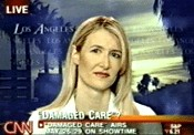 Laura Dern played Dr. Linda Peeno in the Lifetime Movie 'Damaged Care'.