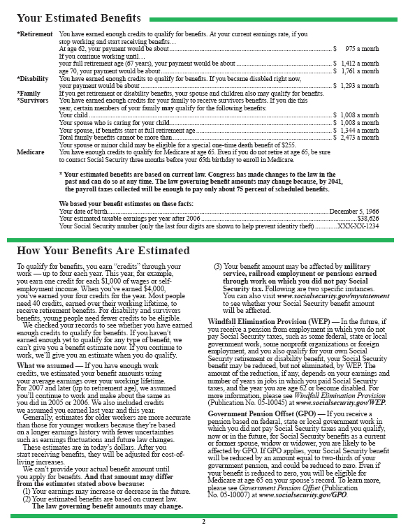 Social Security Retirement Information: What Those Annual Statements ...